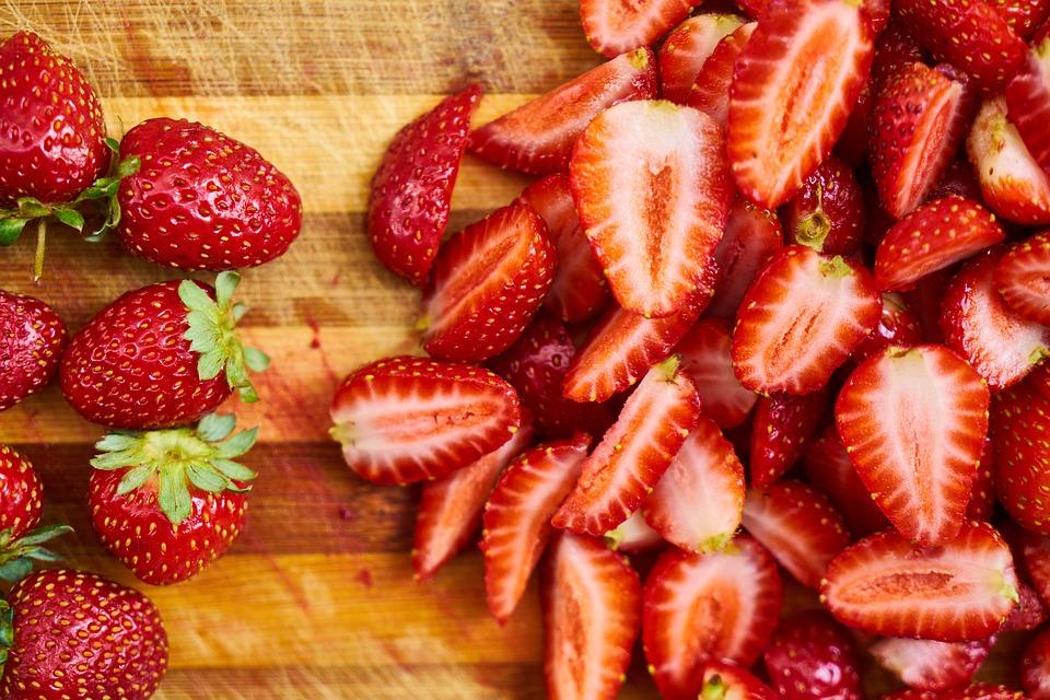 Plantation de fraises