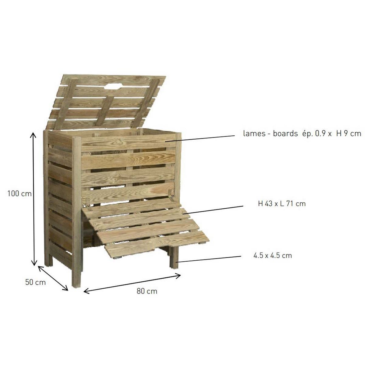 À quoi ressemble un composteur en bois?